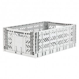 Aykasa folding crate - Maxi light grey