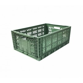 Aykasa folding crate - Maxi almond green