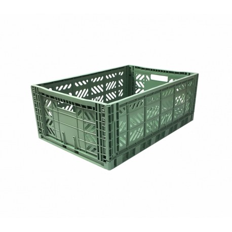 Aykasa folding crate - Maxi almond green