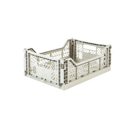 Aykasa folding crate - Midi light grey