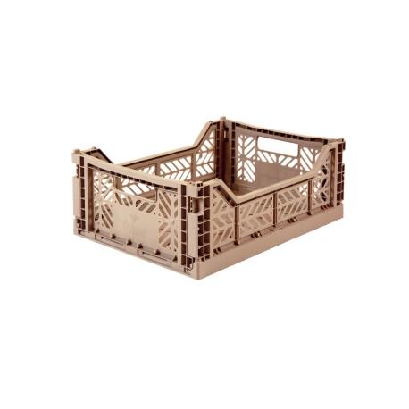 Aykasa folding crate - Midi warm taupe