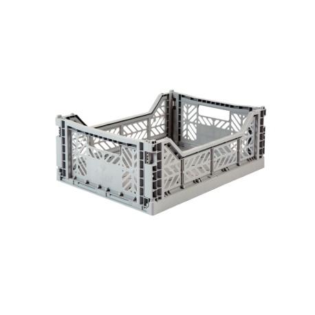 Aykasa folding crate - Midi grey