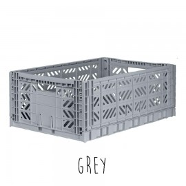 Aykasa folding crate - Maxi grey