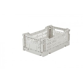 Aykasa folding crate - mini light grey
