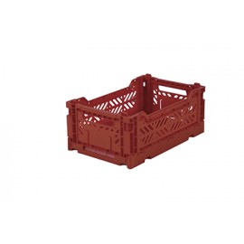 Aykasa folding crate - mini tile red