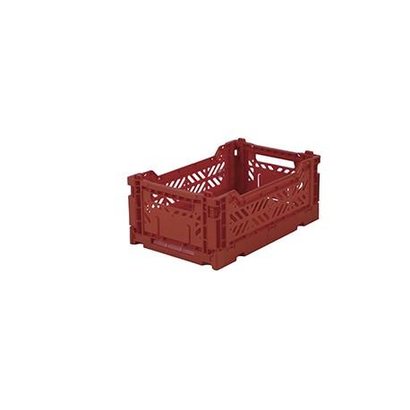 Aykasa folding crate - mini tile red