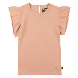 Ruffled short sleeve top - rose