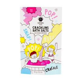 Pink crackling bath salts