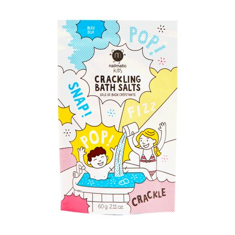 Blue crackling bath salts
