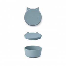 Cornelius snack box - Cat sea blue