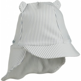 Senia sun hat- Seesucker Sea blue/white