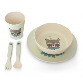 Bamboo Eco Dinner Set Circus Raccoon