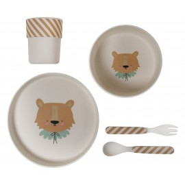 Bamboo Eco Dinner Set Circus Lion