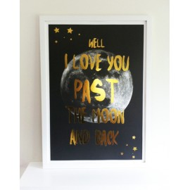 Past the Moon Print