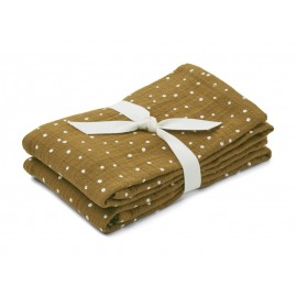 Lewis Muslin Cloth- Confetti olive - 2pack