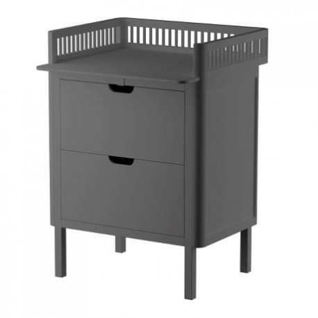 Sebra Changing Table with drawers in grey