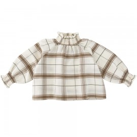WOMEN Smoked blouse - Chenille check