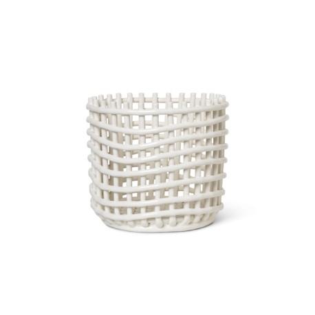 Ceramic basket large