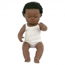 BABY DOLL AFRICAN BOY 38CM