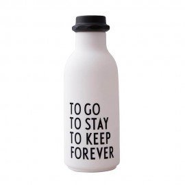 To Go Water Bottle - white