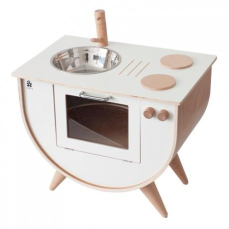 Play kitchen - white/wood