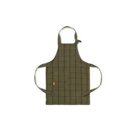 Kid's apron - green/black