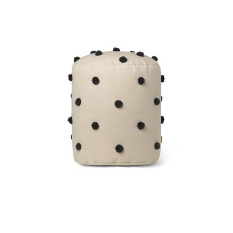 Dot tufted Pouf - sand black