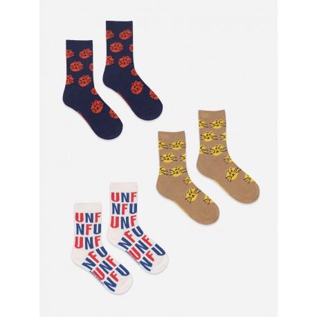 Fun and Cat Jacquard socks - pack of 3