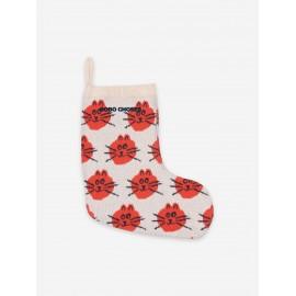 Cat Jacquard christmas knitted sock