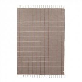 Grid rug carame/offwhite