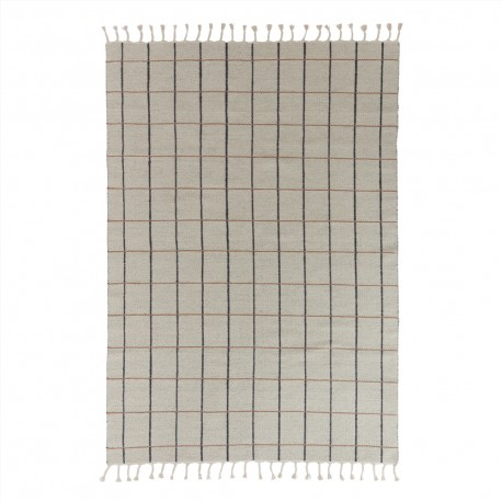 Grid rug offwhite/anthracite