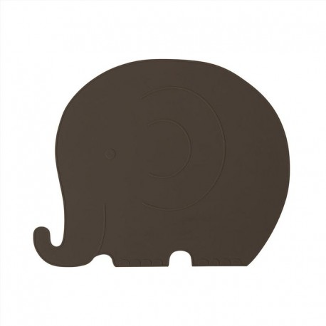 Placemat Henry Elephant - choco