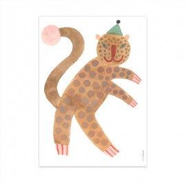 Poster Standing Leopard 50 x70cm