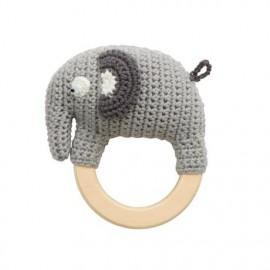 Crochet rattle, Fanto the Elephant