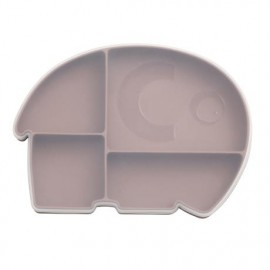 Silicone plate w/lid, Fanto, rustic plum