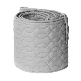 Quilted baby bumper, grey