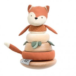 Stacking & tilting fox, Sparky, fox tail red