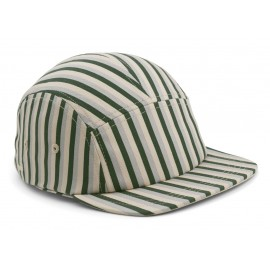 Rory cap - stripes garden green/sandy/dove blue