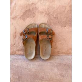 Liilu x LMDi sandals - rust brown