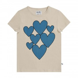 Hearts - t-shirt with print