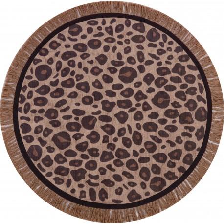 Rug Leopard - round