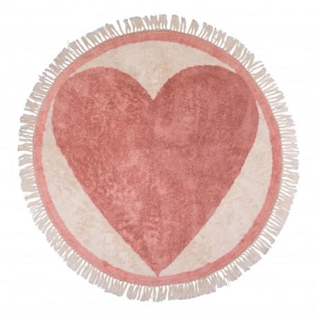Rug Round heart