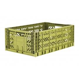 Aykasa folding crate - Maxi olive