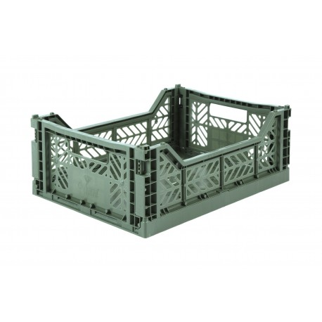Aykasa folding crate - Midi almond green