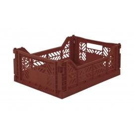 Aykasa folding crate - Midi tile red