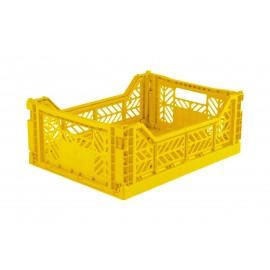 Aykasa folding crate - Midi baby yellow