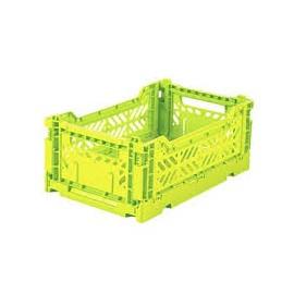 Aykasa folding crate - mini acid yellow
