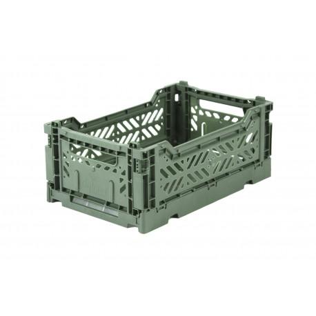 Aykasa folding crate - mini almond green