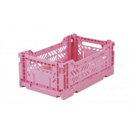 Aykasa folding crate - mini baby pink