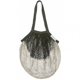 Nuka mesh tote bag - Hunter green/sandy